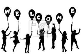 Sagome Di Bambini Azienda Palloncini Con Le Lettere Costruzione
