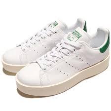 Details About Adidas Originals Stan Smith Bold W Platform White Og Green Leather Women S32266