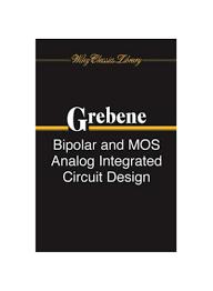 Bipolar And Mos Analog Integrated Circuit Design Shop Bipolar And Mos Analog Integrated Circuit Design