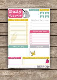 Daily Planner Printables Printable Daily Planner