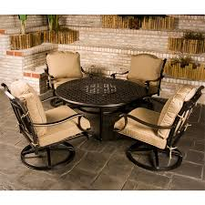 cau outdoor patio furniture fire pit set family leisure