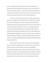 work sample native advertising essay 3