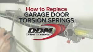 garage door torsion springHow To Replace Garage Door Torsion Springs  YouTube