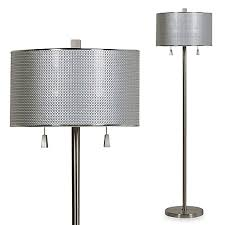 bed bath and beyond lighting. circles floor lamp in brushed steel with cfl bulbs bed bath and beyond lighting