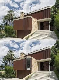Australian Ramp Design Sandstone And Timber Cover This New Australian House