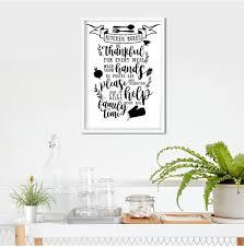 kitchen rules wall decor