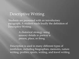 descriptive writing by nadia farrukh ppt video online  5 descriptive writing