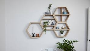d i y honeycomb wall shelves