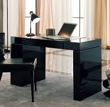 Furniture: Luxury Sweet Black Modern Computer Desk Combined With   Throughout Modern Computer Desk (
