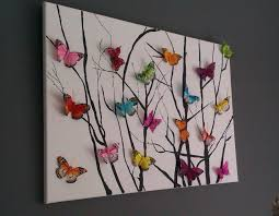 beautiful erfly artwork 3d etflies glued on and sticks done either painted on or painted sticks and then imprint onto canvas