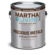 Martha Stewart Bedroom Paint Colors Martha Stewart Living 1 Gal Silver Semi Gloss Precious Metals