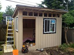 backyard of shed kits fresh tiny home pod modern cost diy plans shed plans simple