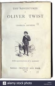 books charles dickens the adventures of oliver twist  stock photo books charles dickens the adventures of oliver twist 1838 novel chapman and hall london 1885 title page book liter