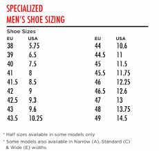 Specialized Mtb Shoes Size Chart 54 Exhaustive Specialized Venge Size Chart
