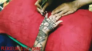 Red Cone Mehandi Designs Easy Mehandi Design With Red And Black Cone Youtube