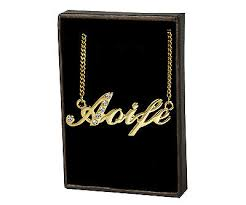name necklace aoife 18ct gold