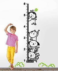 Decorsmart Plastic Growth Chart Ruler Wall Stickers Large
