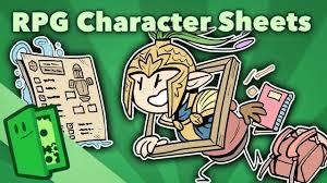 Rpg Character Sheet Designer Rpg Character Sheets Designing Gameplay Around Character Customization Extra Credits