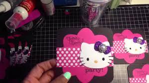 invitation card hello kitty full video of hello kitty birthday invitations for cortlyn youtube