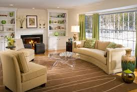 interior amazing affordable home decor with cream sofa and a round table gl and green