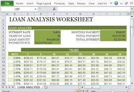 excel financial analysis template how to create a loan analysis worksheet in excel