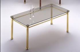 ionica 666 coffee table with structure in polished brass for living room