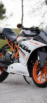 KTM motorcycle side view, road ...