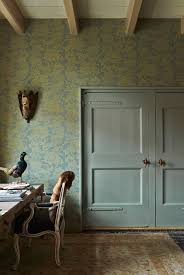 On The Wall Are Pigeon And Mizzle Colours The Amazing Wallpaper - Farrow and ball exterior colours