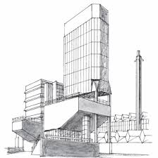 modern architecture drawing. Plain Architecture Thumbnail Image Of Douglas Smith  New Book Iconic Modern  Architecture For Drawing
