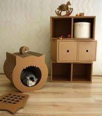 Diy Cardboard Furniture And Cat House