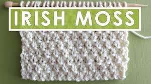 Knit Stitch Patterns Inspiration IRISH MOSS Knit Stitch Pattern YouTube