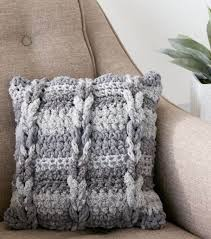 Pillow Patterns Unique How To Crochet A Cable Pillow JOANN