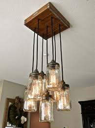 incredible hanging light chandelier diy mason jar pendant light chandelier w rustic style hardwood