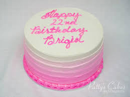Photo Of A Simple Pink Ombre Birthday Cake Pattys Cakes And Desserts