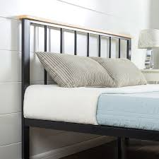 Platform Bedroom Contemporary Metal Wood Platform Bed Zinus
