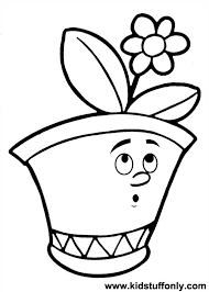 Small Picture Flower Pot Coloring Pages KId Stuff Only