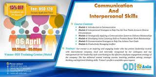 High Interpersonal Skills Communication And Interpersonal Skills At Odi Asia Co Ltd Phnom Penh