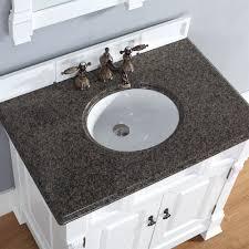 brookfield 36 inch white bathroom vanity tropical brown stone top