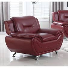 ufe norton burdy faux leather modern living room accent chair com