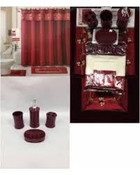 red glass bathroom accessories. 22 Piece Bath Accessory Set Burgundy Red Rug + Shower Curtain \u0026  Accessories Red Glass Bathroom Accessories