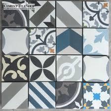 4 x 4 patchwork cement tiles