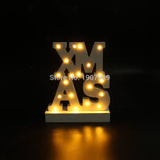 Merry Christmas Light Up Signs Outdoor White Wooden Xmas Led Marquee Sign Light Up Night Light