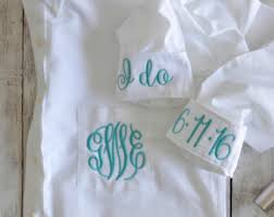 bridal button down etsy Wedding Day Shirts monogram bridal button down, oxford wedding day shirt, bridal party shirt, monogram bride wedding day shirts for bridesmaids