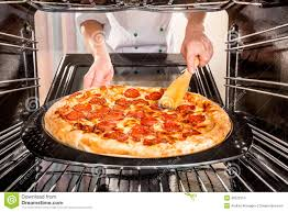 Fast Cooking Ovens Chef Cooking Pizza In The Oven Stock Photo Image 42672314