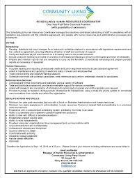 Scheduling Hr Coordinator - Contract - September 2016 - Community ...