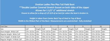 Calf Size Boots Chart 36 Faithful Womens Boot Width Size Chart