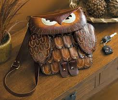 4773631501 brown large brown owl leather purse large