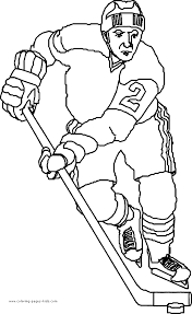 Small Picture Hockey player colouring page Hockey Pinterest