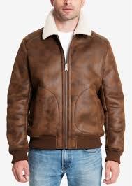 lucky brand men s faux leather fleece lined er jacket