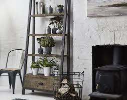 Tantalizing RusticIndustrial Apartment Interior Features Round Industrial Rustic Living Room